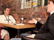 Jeremy Allison siendo entrevistado