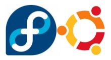Logos de Fedora y Ubuntu